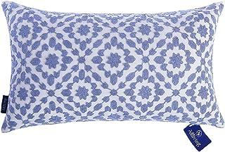Aitliving Throw Pillow Cover Cotton Canvas 1pc Trellis Mina Blue Cornflower Decorative..