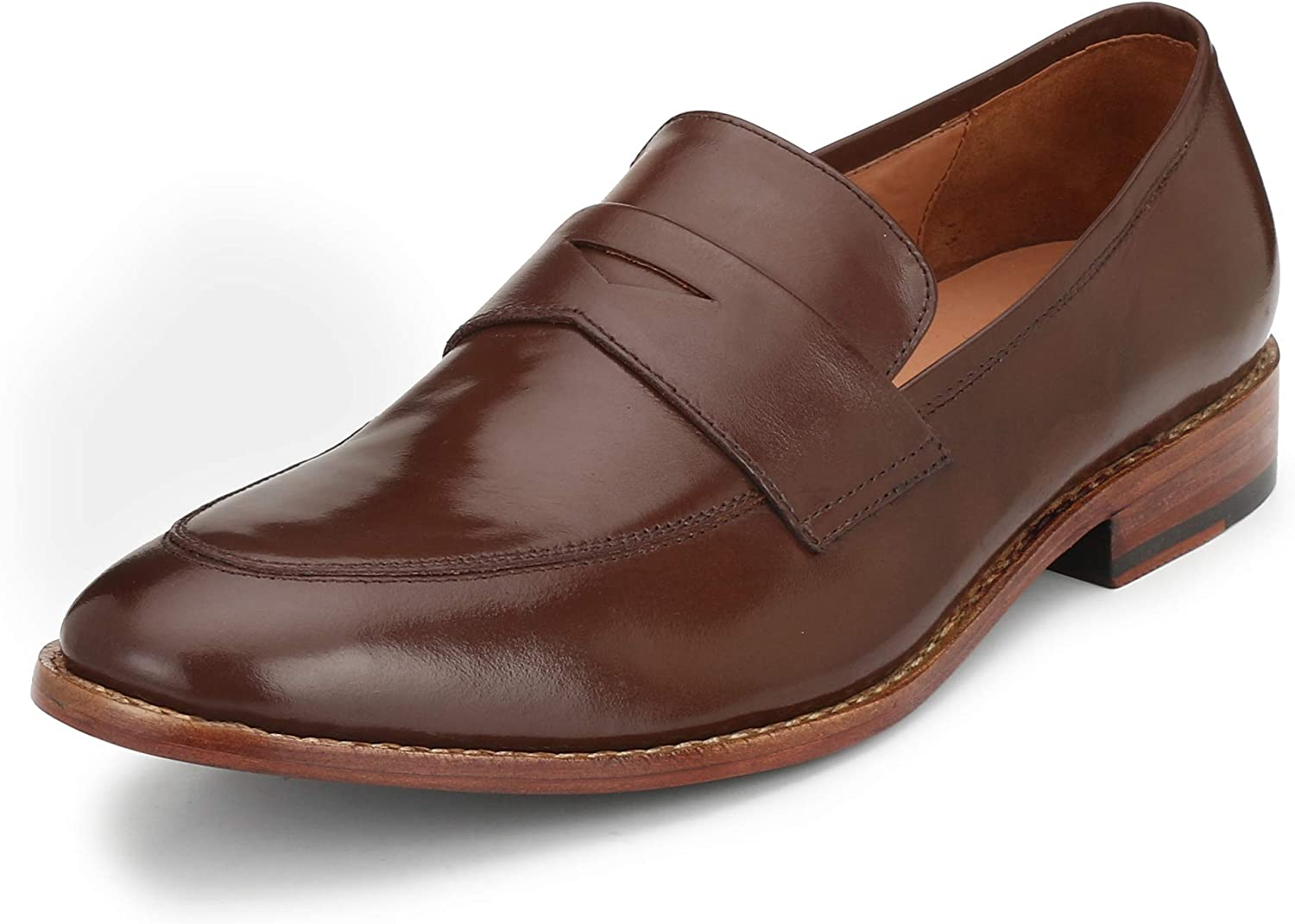 KINGKOMFORT Men's Handmade Goodyear Welted Slip-On Richmond (KK001) Loafer Leather shoes in Black and Brown