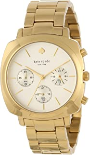 kate spade new york Women's 1YRU0100 Gold Brooklyn Chronograph Watch