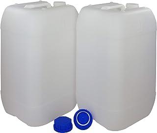 Bidón Garrafa Plástico 25 litros apilable. Apta para uso