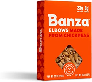 Banza Chickpea Pasta, Elbows - Gluten Free Healthy Pasta, High Protein, Lower Carb and Non-GMO - (Pack of 6)
