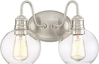 Quoizel Soho 2-Light 9.5-in Brushed nickel Globe Vanity Light