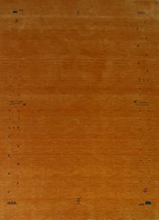 Handgefertigt Teppich 100/% Wolle 170X240 CM Schwarz Orientteppich Gabbeh Loom
