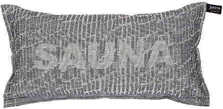 Jokipiin Pellava Coussin de sauna Blanc/noir