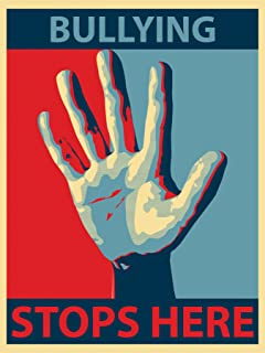 Bullying Stops Here Laminated Educational Art Poster