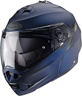 Caberg Klapp Helm Duke II 2 Motorrad Belüftet Sonnenblende Pinlock Visier Jet Brillenträger, 308650, Farbe Blau Matt, Größe XL