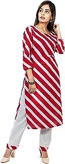 Kurtivala's Cotton Fabric Jaipuri Kurti | Salwar Suit | Ethnic Wear for Women Kurti with Plazzo | Palazo Pant | Printed | Traditional Kurti
