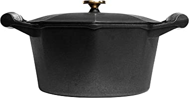 FINEX 5-Quart Cast Iron Dutch Oven, Modern Heirloom, Handcrafted in the USA, Pre-seasoned with Organic Flaxseed Oil