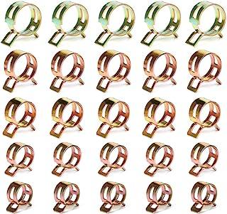 Paquete De 50 clips de resorte de alambre doble Combustible Gasolina Manguera de Aire de SiliconaAbrazadera para tubos