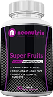 Super Fruit Antioxidant Supplement - 10 Fruits Blend with Acai Berries, Raspberry, Wild Cherry, Blueberry & Elderberry for...