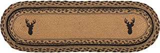 VHC Brands Classic Country Rustic & Lodge Flooring-Trophy Mount Tan Oval Jute Stair Tread