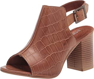 Roper Women's Ankle Strap Heeled Sandal, Tan, 7