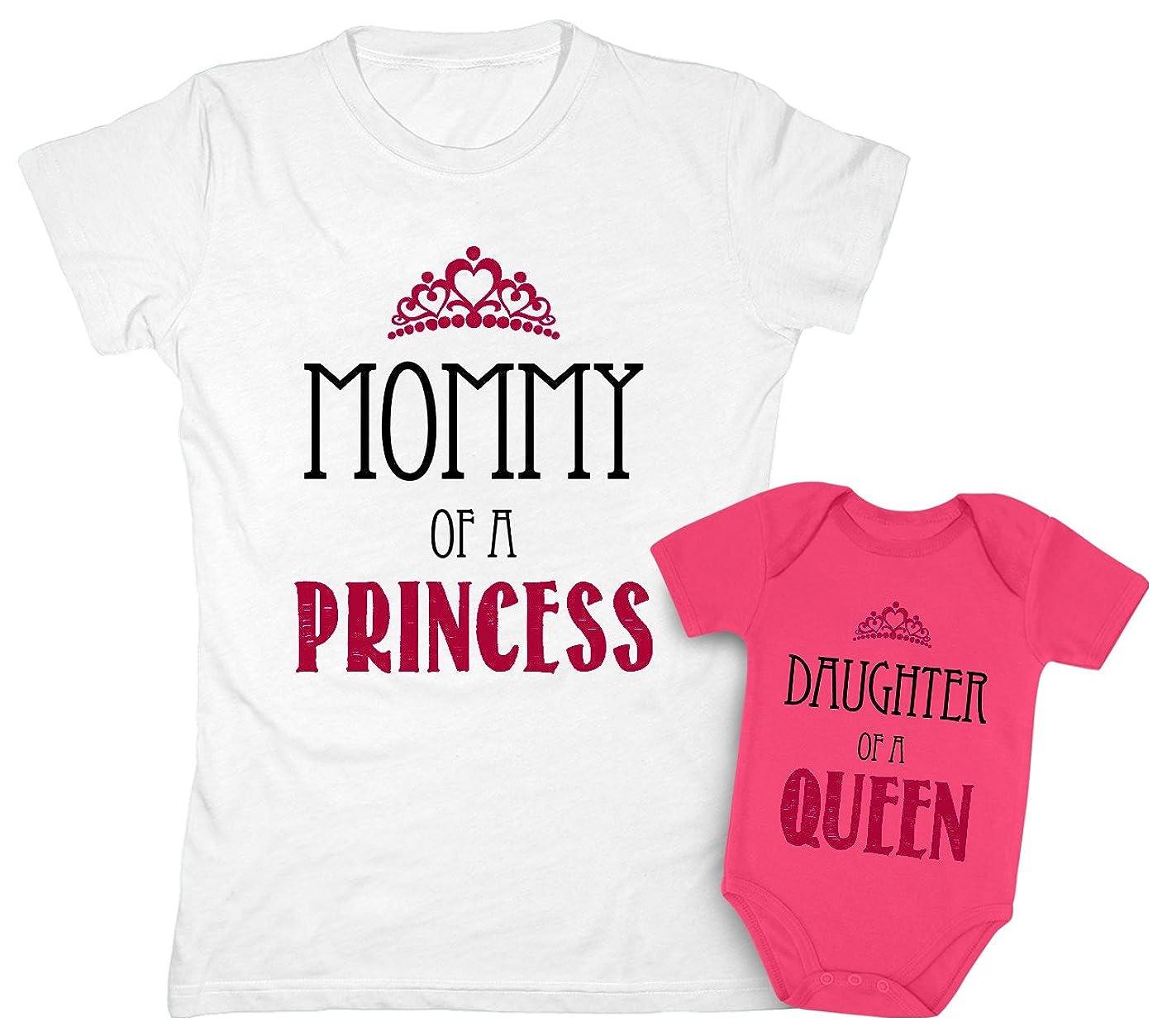 Mother & Daughter Matching Set Gift for Mom & Baby Girl Bodysuit & Women Tee