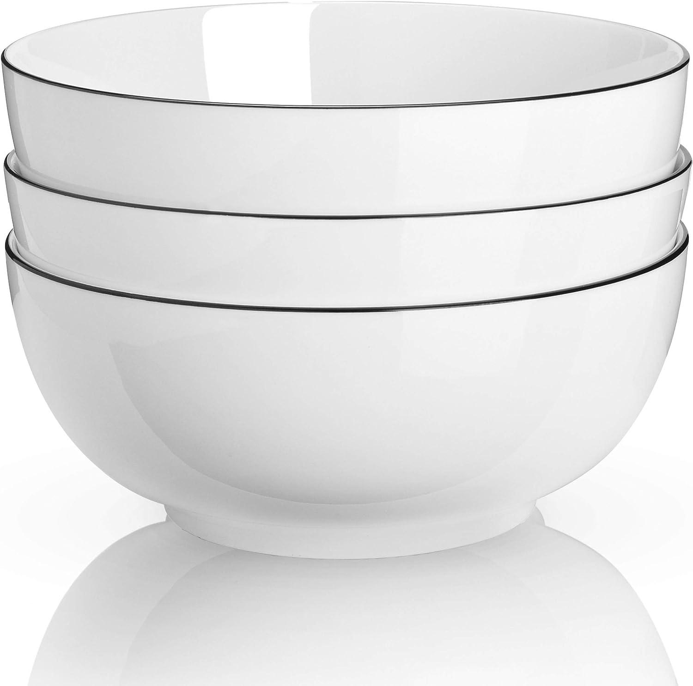 TGLBT Salad online shopping Bowls 40 Ounce Porcelain Set Soup Serving Classic Bowl Pasta
