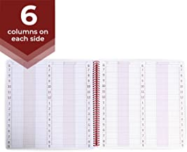 6 Column Undated Appointment Book – Six Person Daily and Hourly Schedule Notebook for Salons, Massage Spas, Hairdressers, Stylists, and More – 200 Pages