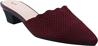 Shuberry SB-19052 Latest Footwear Collection, Comfortable & Fashionable Fabric in Maroon, Navy & Peach Colour Sandal for Women & Girls