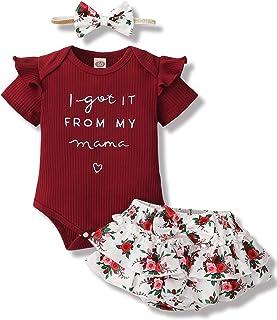 Newborn Infant Baby Girl Clothes Romper Shorts Set Floral...