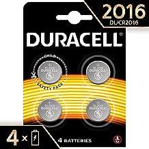 Duracell 2016 Batterie Specialistiche, Bottone al Litio da 3 V, 4 Batterie, DL/CR2016, Progettate per Essere Utilizzate in Chiavi Telecomando, Accessori da Abbigliamento e Dispositivi Medici
