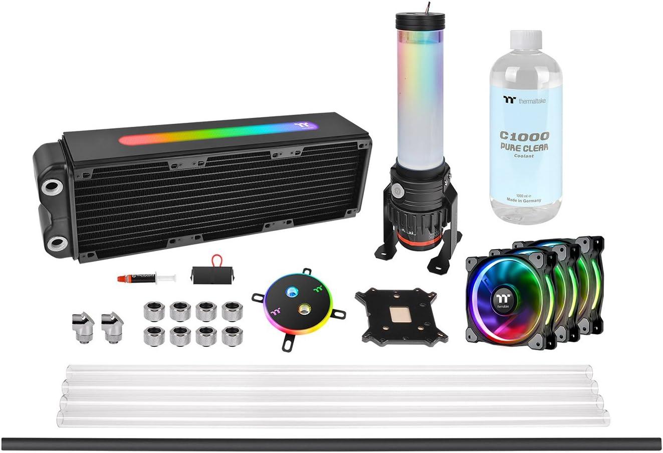 Thermaltake Pacific M360 Plus D5 - Watercooling Kit/Sistema de refrigeración líquida, Color Negro