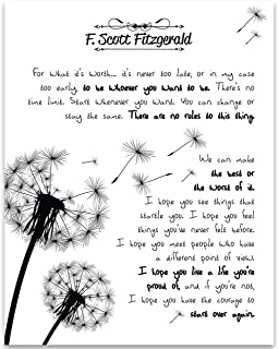For What It's Worth - F. Scott Fitzgerald - 11x14 Unframed Art Print - Great Gift for Book Lovers, Also Makes a Great Gift Under $15