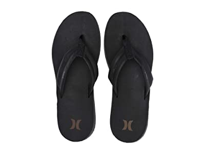 Hurley Lunar Leather Sandal (Black) Men