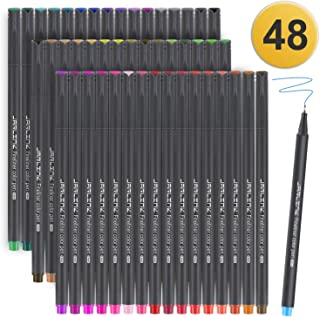 JARLINK 48 Colors Journal Planner Pens, Fine Point Fineliner Markers for Journaling Writing Office Supplies
