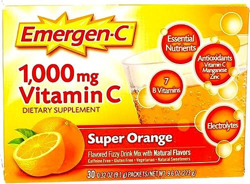 Emergen-C 1000mg Vitamin C Powder, with Antioxidants, B Vitamins and Electrolytes, Vitamin C Supplements for Immune S...