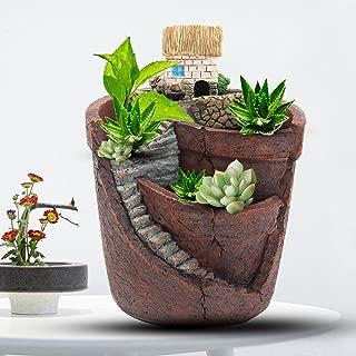 KINGSO Plant Pots Garden Planters Miniature Dollhouse for Fairy House Succulent Plant DIY Home Garden Decor 3.9