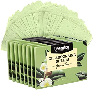 800 Counts Natural Green Tea Oil Control Film, Teenitor Oil Absorbing Sheets for Oily Skin Care, Blotting Paper to Remove ...