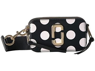 Marc Jacobs The Dot Snapshot (Black Multi) Handbags