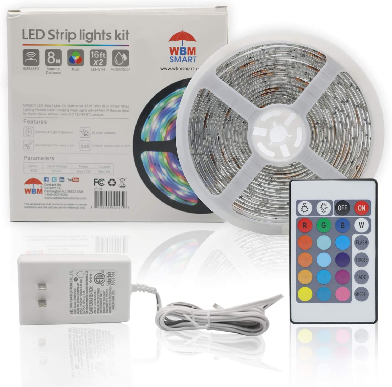 WBM Smart WBM-LP-04 LED Strip Light 5050 Changing specialty shop Color RF RGB Max 63% OFF