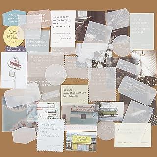 120Feuilles Papier Vintage Scrapbooking Papeterie Décoratifs Rétro DIY Album Photo Décoration pour Journal Artisanat Scrap...