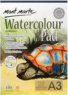 Mont Marte Watercolour Pad German Paper A3 300gsm 12 Sheet