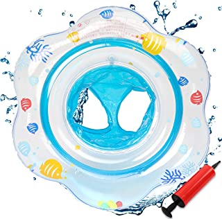 Baby Swimming Ring Float Kids Inflatable Swim Rings with Double Airbag Underarm Floats Swimming Pool Toys Training Accessories for Bathtub Babies Toddlers of 6-48 Months (Blue)