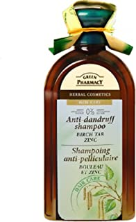 Green Pharmacy - Champú anticaspa madera de abedul y zinc 350 ml
