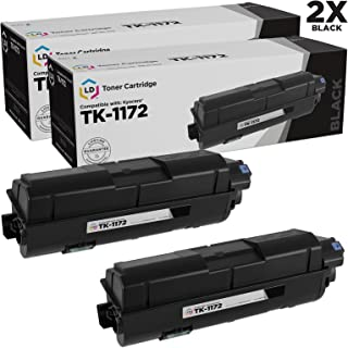 LD Compatible Toner Cartridge Replacement for Kyocera TK-1172 1T02S50US0 (Black, 2-Pack)