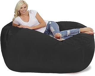 Chill Sack Bean Bag Chair: Huge 6' Memory Foam Furniture Bag and Large Lounger - Big Sofa with Soft Micro Fiber Cover - Dark Grey Pebble