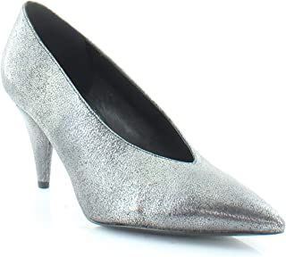 Womens Lizzy Leather Metallic Pumps