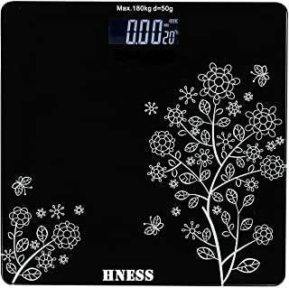 HNESS Electronic Thick Tempered Glass & LCD Display Electronic Digital Personal Bathroom Health Body, Home Medical Supplie...