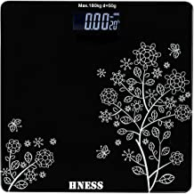HNESS Thick Tempered Glass LCD Display Digital Health Body Weight Weighing Scales For Body Weight Digital For Human Body (...