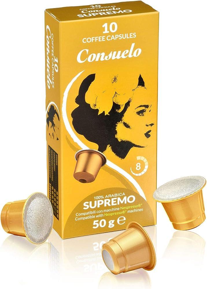 consuelo ,capsule compatibili nespresso* supremo, 100 capsule (10x10)