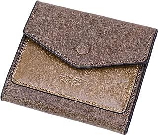 Itslife Women's Small Leather Wallet RFID Card Holder Mini Bifold Ladies Flat Pocket Purse Dark Apricot