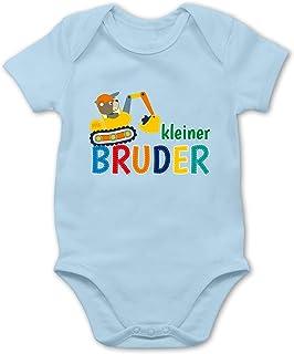 Shirtracer Kleiner Bruder Bagger - Baby Body Kurzarm für Jungen und Mädchen