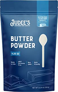 Judee's Butter Powder - 11.25oz Resealable Pouch   100% Non-GMO, Keto-Friendly, rBST Hormone-Free, Gluten-Free & Nut-Free...