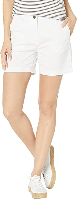 Stretch Mini Twill Fly Front Shorts