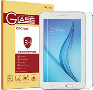 Galaxy Tab E Lite 7.0 / Tab 3 Lite 7.0 / Kids Tab E Lite 7'' Screen Protector, OMOTON Tempered-Glass Protector with [9H Hardness] [Crystal Clear] [Scratch-Resistant] [Bubble Free Easy Installation]
