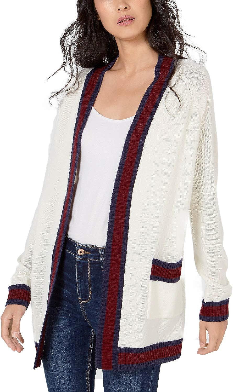 Maison Jules Varsity-Stripe Cardigan Sweater