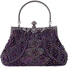 Miaomiaogo Vintage Women Party Wedding Handbags Retro Bead Embroidered Bags Cheongsam Clutch Purse Casual Shoulder Messenger