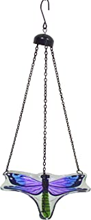 Continental Art Center CAC2610320B Hanging Dragonfly Bird Feeder with Chains, 9 by 7-Inch