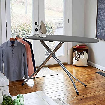 Sasimo Self Standing - Extra Large Foldable International Quality Ironing Board with Ironing Table with Iron Stand-ironing board foldable-ironing board (Grey)